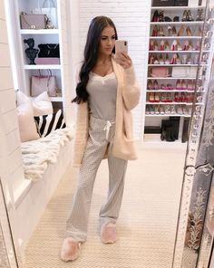 Rachel Parcell: Comfy and cozy today. Pink Peonies, Lounge Wear, Cozy, Clothes For Women, Womens Fashion, Sweaters, Outfits, Shopping, Dresses
