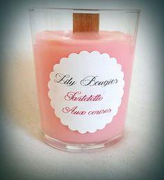 Bougie végétale parfum Tartelette aux cerises par LilyBougies