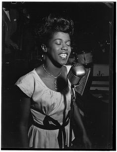 [Portrait of Sarah Vaughan, Café Society (Downtown), New York, N.Y., ca. Aug. 1946] (LOC) by The Library of Congress, via Flickr