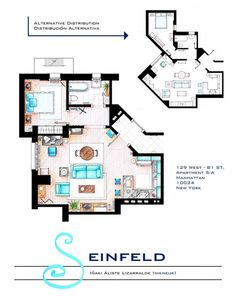 10 Floor Plans of the Most Famous TV Apartments in the World Like this.