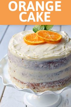 Homemade Orange Cake with Sweet Orange Cream Cheese Frosting. The best moist orange cake recipe with homemade orange frosting. Best Moist Orange Cake Recipe, Homemade Orange Cake Recipe, Homemade Cakes, Italian Orange Cake Recipe, Orange Cake Recipe From Scratch, Best Fruit Cake Recipe, Easy Desserts, Delicious Desserts, Dessert Recipes