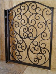 Tuscany Garden Gate Design available in a driveway gate matching gate ( See Below )