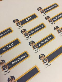 West Virginia football schedule planner by ImagineThatbyLori