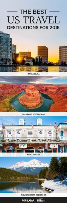Travel site Lonely Planet released its 2015 list of the destinations in the US that travelers need to make top priority to visit this year. From offbeat small towns to mountain regions and cities vibrant with culture and life Dream Vacations, Vacation Spots, Oh The Places You'll Go, Places To Visit, Best Places To Travel, Us Travel Destinations, Us Road Trip, To Infinity And Beyond, Parcs