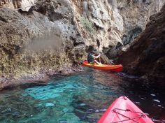Kayak routes on the Mediterranean sea and in lakes in Malaga: Maro-Nerja, 2hrs, 5 p.m., 20 euro / pp.