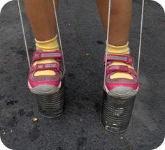 tin can stilts - summer fun list