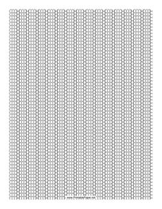 This 3-1 Seed Bead Peyote Pattern beadwork layout graph paper features seed beads in an alternating three-row and single-row peyote pattern. Free to download and print