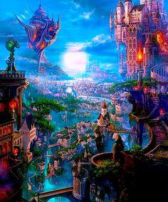 The Art Of Animation, Kazumasa Uchio. Fabulous fantasy landscape art. #Fantasy