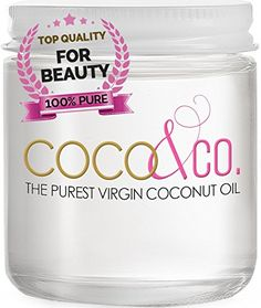 Coconut Oil for Hair & Skin By COCO&CO. Beauty Grade 100% RAW, 8oz.