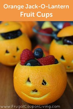 Nothing sparks a conversation quite like these Orange Jack-O-Lantern Fruit Cups—how perfect for Halloween!