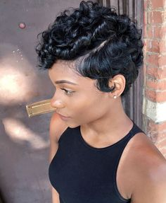 Black Girl Short Hairstyles Cool 39 Everyday Short Hairstyles For Black Women  Pinterest  Short