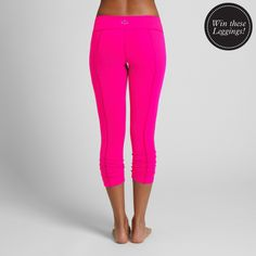 Win a pair of BEYOND YOGA Back Gathered Leggings on our Facebook page TODAY!