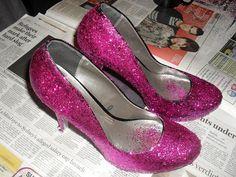 DIY Heels Ideas : DIY  Sparkly Heels!