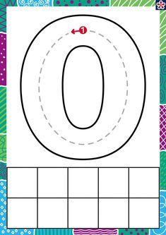 Preschool Writing, Numbers Preschool, Preschool Learning Activities, Learning Numbers, Preschool Printables, Writing Numbers, Numbers For Kids, Preschool Letters, English Worksheets For Kids