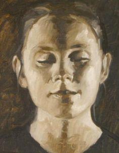 Bliss by Mark Fehlman Oil ~ 16 x 12  -oil painter, oil painting, figurative art, figurative painting, portraits.