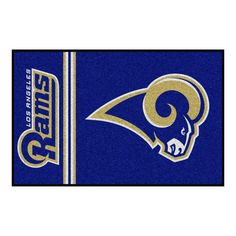 7e7f2dce4 FANMATS NFL Los Angeles Rams Blue Uniform Inspired 2 ft. x 3 ft. Area Rug