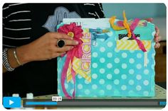 Circle journal and link to Create To Remember video turtorial. This is really fun. Mini Scrapbook Albums, Mini Albums, Memory Crafts, File Folders, Heidi Swapp, Michael Store, Altered Books, Journal Inspiration, Studying
