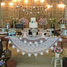 Wedding Reception Decorations Rustic Dessert Bars 61 Ideas For 2019 Bridal Shower Decorations, Wedding Reception Decorations, Vintage Party Decorations, Wedding Desserts, Vintage Bridal, Rustic Wedding, Marie, Birthday Parties, Bouquet Wedding