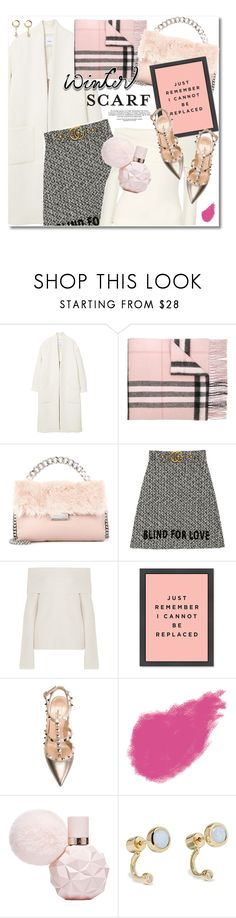 """""""Winter Scarf Style"""" by miee0105 ❤ liked on Polyvore featuring MANGO, Burberry, STELLA McCARTNEY, Gucci, The Row, Valentino, Bobbi Brown Cosmetics and Pamela Love"""