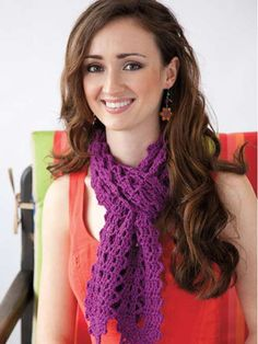 Cute crochet purple scarf