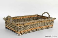 Willow baskets recently woven by Katherine Lewis, willow basket maker and willow grower in Mount Vernon, WA
