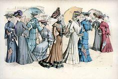 NEW Victorian Edwardian Ladies Dress Design Fashion Colour 7 Prints Pictures | eBay