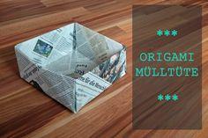 Mülltüten aus Zeitungspapier falten ohne Kleber Zero Waste, plastikfrei
