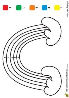 coloriage magique maternelle arc en ciel à imprimer sur hugolescargot.com