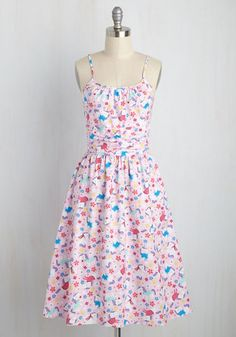 Myth Universe Dress. Crown yourself the queen of quirk with this bubblegum pink dress! #multi #modcloth