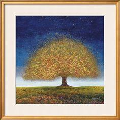 Dreaming Tree Blue Art Print by Melissa Graves-Brown at Art.com