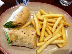 Nando's chicken wrap, has to be done medium with halloumi cheese though