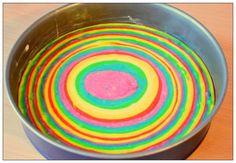 Hello my dears! I baked again. No rainbow cake this time . - Hello my dears! I baked again. This time no rainbow cake, but a rainbow gateau. Hair Rainbow, Rainbow Food, Rainbow Baby, Kid Muffins, Baked Breakfast Recipes, Sweet Bakery, Easy Baking Recipes, Sweets Cake, Food Humor