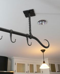 Blacksmith : Custom Designed Kitchen Pot Racks and Shelves : Hand Forged Steel