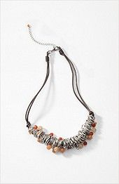 layered ring & stone necklace