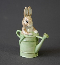Beswick Beatrix Potter figure. 'Peter in the watering can.'…