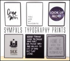 Simsworkshop: Typography Prints by Sympxls • Sims 4 Downloads