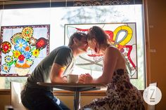 Engagement session at a coffee roasteria! Love!     By Madison wedding photographer Laura Zastrow.
