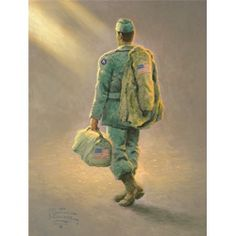 Heading Home - Thomas Kinkade .... In honor of our soldiers