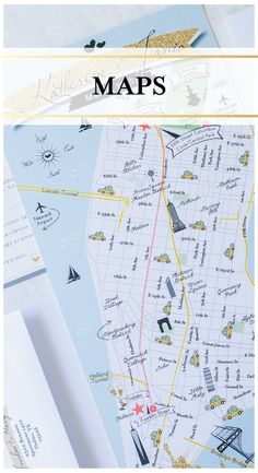 as seen on style me pretty custom fun wedding map pink and navy