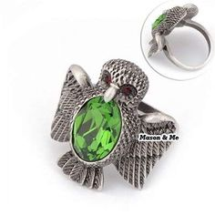 (Can Choose Size 17# 18# 19#)HOT Korean Vintage Fashion OWL Decorated With CZ Diamond Charm Design Ring (Bronze) General. Fashionable with passion REPIN if you like it.😍  Only 145 IDR