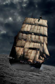 Full sail...