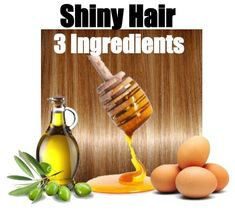The ultimate hair mask if you want shiny hair! There I say it. Try this homemade hair mask once a week and you will see results! Shiny beautiful hair with only 3 ingredients. Why use these three fo...
