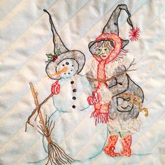 Fun little free embroidery pattern from Crabapple Hill Studio! Love how it turned out Machine Embroidery Projects, Embroidery Transfers, Embroidery Patterns Free, Quilt Patterns, Embroidery Designs, Halloween Embroidery, Halloween Quilts, Christmas Embroidery, Applique Stitches