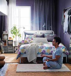 inspiring bedroom design serene violet