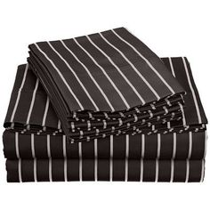 Simple Luxury Bahama 600 Thread Count Sheet Set Color: Black, Size: Full