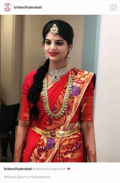 Saree Blouse Patterns, Designer Blouse Patterns, Saree Blouse Designs, Bridal Hairstyle Indian Wedding, Indian Bridal Sarees, Bridal Hairstyles, Vaddanam Designs, Indian Jewellery Design, Latest Jewellery