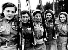 Female soviet snipers WW2 ;)
