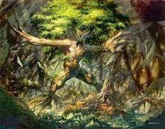 Originários da mitologia dos austríacos eles são os  Espíritos das árvores em Tirol. Os habitantes acreditavam que os Fangge vingavam-se daqueles que cortassem os galhos ou arrancassem a casca das árvores, fatos que levariam à sua morte. Para se proteger de alguma vingança dos Fangge, as pessoas ofertavam pães com sementes de cominho às árvores. Essas criaturas seriam uma espécie de Ent, os espíritos que habitam as árvores.