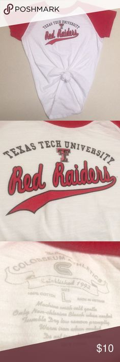 Texas Tech Red Raiders - Women's Tied Crop T ❤️❤️ Texas Tech University Red Raiders  ❤  Women's Tied Crop T-shirt   Size Large   Get it before March Madness! 🏀 Tops Tees - Short Sleeve