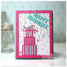 Happy Birthday by Jen Shults stamps and dies from Taylored Expressions